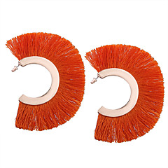 preiswerte Ohrringe-Damen Quaste Tropfen-Ohrringe - Personalisiert, Geometrisch, Quaste Rot / Regenbogen / Dunkelmarine Für Geschenk Alltag Normal