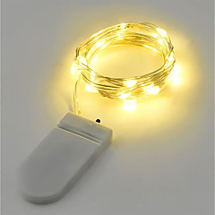 お買い得  LED ストリングライト-2m ストリングライト 20 LED 温白色 / RGB / ホワイト バッテリー / IP65