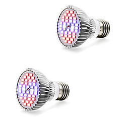 tanie Żarówki LED-2pcs 7W 800-1200lm E14 GU10 E27 Rosnąca żarówka 40 Koraliki LED SMD 5730 Ciepła biel Biały Niebieski Czerwony 85-265V