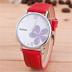 preiswerte Herrenuhren-Herrn / Damen Armbanduhr Chinesisch PU Band Blume / Modisch / Einzigartige kreative Uhr Schwarz / Weiß / Rot / Jinli 377