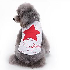 お買い得  犬用ウェア&アクセサリー-犬 ベスト 犬用ウェア Stars ブラック / レッド / ブルー コットン コスチューム ペット用 夏 男性用 / 女性用 カジュアル/普段着