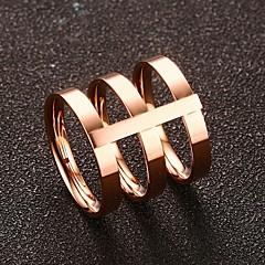Dames Bandringen Modieus Vintage leuke Style Goud Titanium Staal Goud Rose Cirkelvorm Sieraden VoorBruiloft Dagelijks Ceremonie