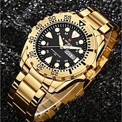 Bărbați Ceas Elegant Ceas La Modă Ceas de Mână Unic Creative ceas Ceas Casual Chineză Quartz Calendar Rezistent la Apă Oțel inoxidabil