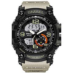 お買い得  メンズ腕時計-SMAEL 男性用 スポーツウォッチ リストウォッチ デジタルウォッチ デジタル 30 m 耐水 アラーム LED ラバー バンド アナログ/デジタル カモフラージュ ファッション ブラック - ライトブルー カーキ色 迷彩グリーン 2年 電池寿命 / 光る / 2タイムゾーン / Maxell SR626SW + CR2025