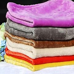 Dog Bed Pet Blankets Solid Warm Foldable Soft Random Color For Pets