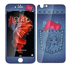 Недорогие Защитные пленки для iPhone 6s / 6 Plus-Защитная плёнка для экрана для Apple Закаленное стекло 1 ед. Защитная пленка для экрана и задней панели / Защитная пленка на всё устройство Уровень защиты 9H / Взрывозащищенный / Узор