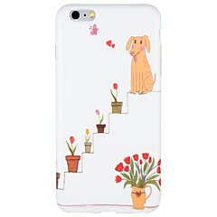 Case for Apple iPhone 7 Plus iPhone 7 Cover Frosted Pattern Back Cover Case Dog Cartoon Flower Soft TPU for  iPhone 6s Plus iPhone 6 Plus