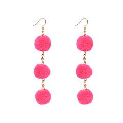 preiswerte Ohrringe-Damen - Kugel Personalisiert, Modisch, nette Art Rot / Rosa / Königsblau Für Alltag Normal Strasse