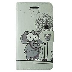 tok Για Samsung Galaxy A5(2016) A3(2016) Πορτοφόλι Θήκη καρτών με βάση στήριξης Ανοιγόμενη Με σχέδια Πλήρης κάλυψη Ελέφαντας Σκληρή PU