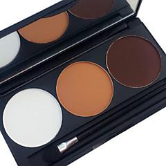 Pro 3 szín kontúr blush blusher készlet bronz és kiemelő por fényes matt sminkpaletta