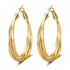 preiswerte Ohrringe-Damen Kreolen - Roségold Luxus, Quaste, Punk Gold / Silber Für Abschluss / Geschenk / Alltag / überdimensional