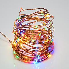 お買い得  LED ストリングライト-10m ストリングライト 100 LED SMD 0603 温白色 / RGB / ホワイト リモートコントロール / 調光可能 / 防水 <5 V / IP65
