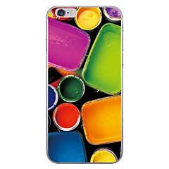 Случай для яблока iphone 7 7 плюс крышка пигмента крышки случая hd покрасили более толстый материал tpu мягкий случай случая телефона для