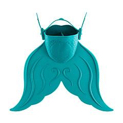 abordables Máscaras de Buceo-Aletas de buceo Portátil, Sirena, Hoja corta Natación, Buceo, Submarinismo PE, TPR - para Niños Rojo / Verde / Azul