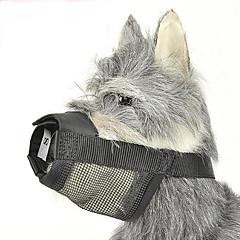 お買い得  犬用首輪/リード/ハーネス-犬 マズル 調整可能 / 引き込み式 アンチ犬叫 安全用具 ソリッド ナイロン ブラック