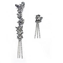 preiswerte Ohrringe-Damen Nicht übereinstimmend Ohrstecker - Blume Quaste, Bling Bling Silber Für Party Bühne