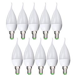 preiswerte LED-Birnen-EXUP® 10 Stück 6W 500lm E14 LED Kerzen-Glühbirnen C37 6 LED-Perlen SMD 2835 Lichtsteuerung Dekorativ Warmes Weiß Kühles Weiß 110-130V