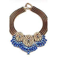 Damskie Oświadczenie Naszyjniki sztuczna Diament Geometric Shape StopKorygujący Osobiste Ręcznie wykonane Wyrazista biżuteria Elegancki