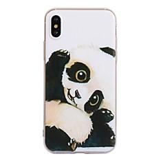 Недорогие Кейсы для iPhone-Кейс для Назначение Apple iPhone X iPhone 8 С узором Кейс на заднюю панель Панда Мягкий ТПУ для iPhone X iPhone 8 Pluss iPhone 8 iPhone 7