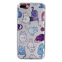 お買い得  iPhone 5S/SE ケース-ケース 用途 Apple iPhone X iPhone 8 パターン バックカバー 猫 ソフト TPU のために iPhone X iPhone 8 Plus iPhone 8 iPhone 7 Plus iPhone 7 iPhone 6s Plus iPhone 6s