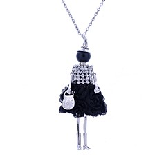 お買い得  ネックレス-女性用 ロング丈 ステートメントネックレス  -  レース 王女 ボヘミアンスタイル, ボヘミアン 愛らしいです ブラック, ダークブルー, レッド ネックレス ジュエリー 用途 パーティー, カジュアル