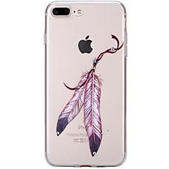 Назначение iPhone 7 iPhone 7 Plus Чехлы панели Стразы Ультратонкий Прозрачный С узором Задняя крышка Кейс для Ловец снов Мягкий