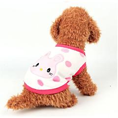 お買い得  犬用ウェア&アクセサリー-犬 ベスト 犬用ウェア カートゥン ホワイト / イエロー / ピンク フランネル コスチューム ペット用 カジュアル/普段着