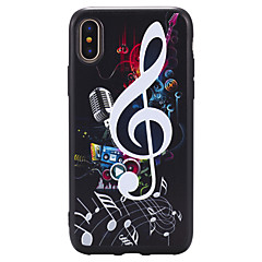 Til iPhone X iPhone 8 Plus Etuier Præget Mønster Bagcover Etui Punk Blødt TPU for Apple iPhone X iPhone 8 Plus iPhone 8 iPhone 7 Plus