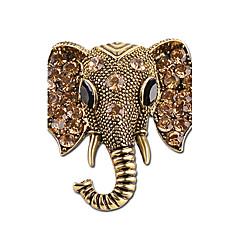 hesapli -Erkek Kadın's Broşlar Yapay Elmas Hayvan Tasarımı Kişiselleştirilmiş Yapay Elmas Gümüş Kaplama Fil Mücevher Uyumluluk Sahne