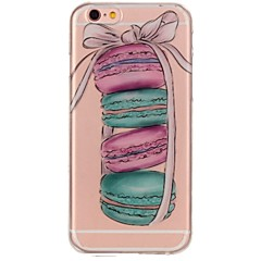 Kompatibilitás iPhone 7 iPhone 7 Plus tokok Ultra-vékeny Minta Hátlap Case Élelem Puha Hőre lágyuló poliuretán mert Apple iPhone 7 Plus