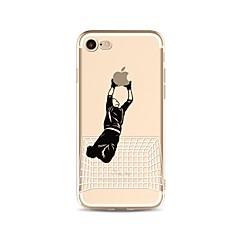 お買い得  iPhone 5S/SE ケース-ケース 用途 Apple iPhone X iPhone 8 クリア パターン バックカバー Appleロゴアイデアデザイン ソフト TPU のために iPhone X iPhone 8 Plus iPhone 8 iPhone 7 Plus iPhone 7 iPhone