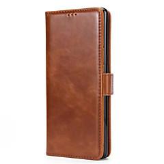 Недорогие Чехлы и кейсы для Galaxy Note 5-Кейс для Назначение SSamsung Galaxy Note 8 Note 5 Бумажник для карт Кошелек со стендом Флип Магнитный Чехол Сплошной цвет Твердый Кожа PU