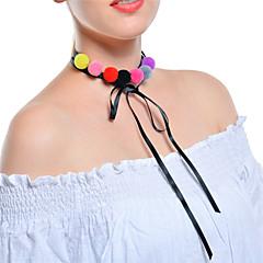 お買い得  ネックレス-女性用 レイヤード チョーカー / カラー  -  リボン 多層式 ブラック ネックレス 用途 パーティー, 日常