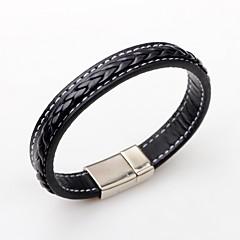 preiswerte Armbänder-Lederarmbänder - Leder Punk, Simple Style, Modisch Armbänder Schwarz / Braun Für Normal
