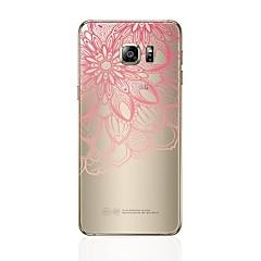 olcso Galaxy S6 tokok-Case Kompatibilitás Samsung Galaxy S8 Plus S8 Átlátszó Minta Hátlap Szív csipke nyomtatás Puha TPU mert S8 Plus S8 S7 edge S7 S6 edge