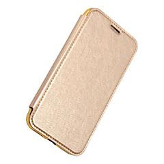 voordelige iPhone-hoesjes-hoesje Voor Apple iPhone X iPhone X iPhone 8 iPhone 8 Plus Kaarthouder Portemonnee Beplating Flip Volledig hoesje Effen Kleur Hard