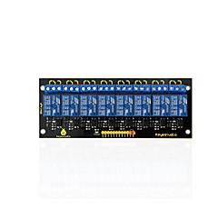 abordables Relés-keyestudio módulo de relé de 8 canales 5v para arduino pic avr mcu dsp brazo electrónico