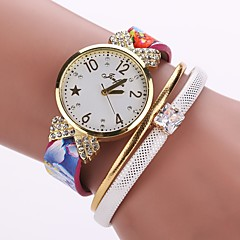 Women's Unique Creative Watch Fashion Watch Bracelet Watch Chinese Quartz PU Band Charm Vintage Casual Elegant Black White Blue Red Pink