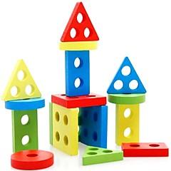 Educatief speelgoed Houten puzzels Cilindrisch Driehoek Rechthoekig Unisex