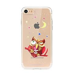 Назначение iPhone X iPhone 8 Чехлы панели Прозрачный С узором Задняя крышка Кейс для Сова Мягкий Термопластик для Apple iPhone X iPhone 8