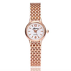 preiswerte Damenuhren-Damen Armband-Uhr Quartz Metall Legierung Band Analog Freizeit Elegant Silber / Rotgold - Silber Rotgold