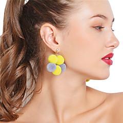 preiswerte Ohrringe-Damen Tropfen-Ohrringe Kreolen Strass Sexy Mehrfarbig Strass Baumwollflanell Kugel Schmuck Party Alltag