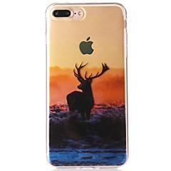 Недорогие Кейсы для iPhone 7-Кейс для Назначение Apple iPhone 7 IMD / С узором Кейс на заднюю панель Пейзаж / Животное Мягкий ТПУ для iPhone 7 Plus / iPhone 7 / iPhone 6s Plus