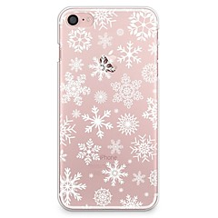 Para iPhone X iPhone 8 Case Tampa Transparente Estampada Capa Traseira Capinha Natal Macia PUT para Apple iPhone X iPhone 8 Plus iPhone 8