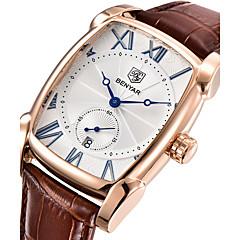 Χαμηλού Κόστους Ανδρικά Ρολόγια-Ανδρικά Μοδάτο Ρολόι Ρολόι Καρπού Μοναδικό Creative ρολόι Ιαπωνικά Χαλαζίας Ημερολόγιο Γνήσιο δέρμα Μπάντα Πολυτέλεια Καθημερινό Απίθανο