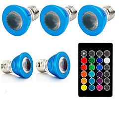 1 세트 3W E27 LED 스팟 조명 1 LED가 고성능 LED 리모컨 작동 장식 RGB 240lm 610-640, 460-470, 501-540