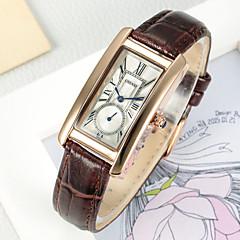 preiswerte Tolle Angebote auf Uhren-CHENXI® Damen Modeuhr / Kleideruhr Chinesisch Armbanduhren für den Alltag / Cool Leder Band Charme / Freizeit Braun / Zwei jahr / Maxell SR626SW