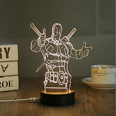 abordables Luces USB-1 juego Luz nocturna 3D USB Decorativa