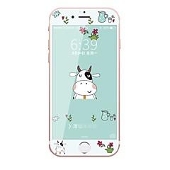 Σκληρυμένο Γυαλί Προστατευτικό οθόνης για Apple iPhone 6s iPhone 6 Ολόσωμο προστατευτικό οθόνης Μοτίβο Προστασία από Γρατζουνιές Κυρτό