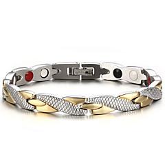 billige Armbånd-Herre Kæde & Lænkearmbånd Armbånd Multi-sten Natur Mode Titanium Stål Andre Cirkelformet Smykker Gave Daglig Kostume smykker